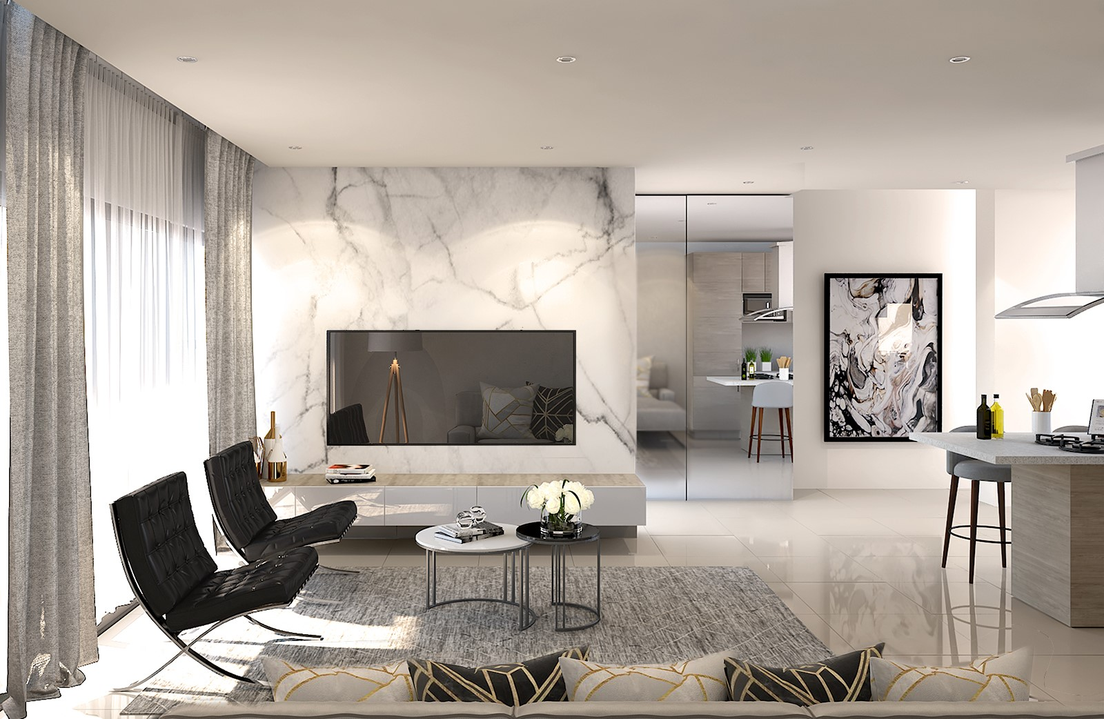 The Lombardy offers modern apartment living